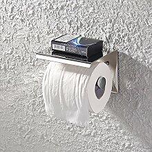 KES SUS 304 Edelstahl Toilettenpapierhalter Lagerung Bad Küche Papier Handtuch Dispenser Gewebe Roll Kleiderbügel Wandhalterung, Poliert, BPH201S1