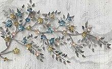 Keshj Benutzerdefinierte Fototapete Blumen Baum