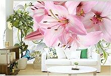 Keshj Rosa Tapete Der Blume 3D Modern Für