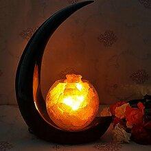 Kesierte Amerikanischen kreativen Prozess Lampen Salz Salzlampen Salzkristall-Lampe Tischlampe Dekoration