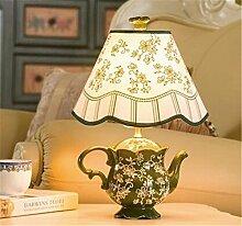 Kesierte E27 Kreative Moderne bunte chinesische keramische LED E27 Tabellen-Lampe für Wohnzimmer Schlafzimmer bardekor H 39cm 26cm