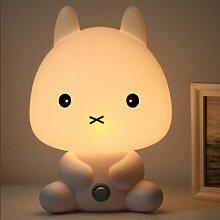 Kesierte Elf Kaninchen Lampe kreative Nachttischlampe Schlafzimmer Nachtlicht Kaninchen Meng gesteck