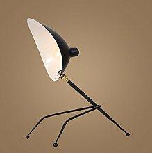 Kesierte LED Lampe E27 kreative Schlafzimmer Wohnzimmer Dekoration Nachttisch schwarz Schmiedeeisen Tisch Schreibtischlampen