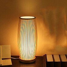 Kesierte Moderne minimalistische Schlafzimmer Nachttischlampe Dimmer Lampe Bambuslampe IKEA Wohnzimmer Studie