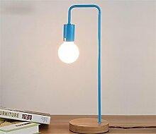 Kesierte Moderne minimalistische Schlafzimmerlampe personifizierte Studie kleine Lampe Nachttischlampe , blue