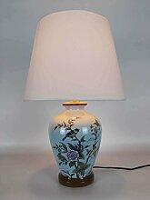 Kesierte Nachttischlampe Keramik-Lampe Wohnzimmer Schlafzimmer den pastoralen amerikanischen Land Keramik-Lampe , 30