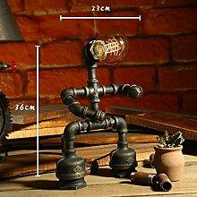 Kesierte Retro Roboter kreative LED Wasser Lampe , a