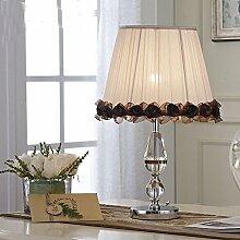 Kesierte Schlafzimmer modernen minimalistischen Tischlampe Kristall-Lampe Schlafzimmer , button switch