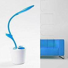 Kesierte Wiederaufladbare LED-Lampe Auge Studie kreatives Schreiben Kinder Lampen , blue