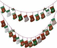Kesote Adventskalender zum Befüllen 24 Aufhängen