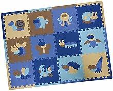 KESOTO 12er Puzzlematte Kinderteppich Spielteppich