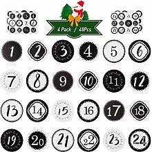 KESOTO Adventskalender Zahlen Aufkleber DIY