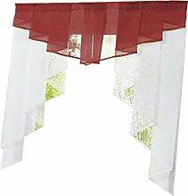 KESOTO Landhausstil Fenster Tüll Vorhang Gardine