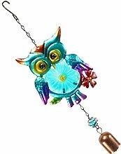 KESOTO Welcome Metall Windspiel Eule Tierfigur zur