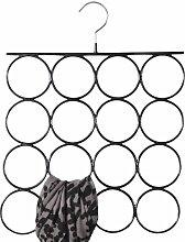 Kesper 16710 Schal- und Tuchbügel, Metall, Maße: 36 x 47 cm, Ringe ø 8.5 cm