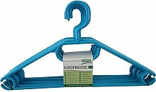 Kesper 16815 Kunststoff-Kleiderbügel, 10-er Pack, 40 cm, petrolblau