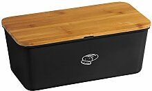 Kesper 18091 Brotbox Melamin Bambus, schwarz