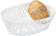 Kesper 19880 Brotkorb aus Kunststoffgeflecht oval,