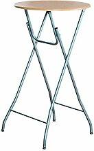 Kesper 259 Stehtisch, klappbar, Aluminium, Platte: Buchendekor, Maße: ca. Ø 60 cm / Höhe: ca 104 cm