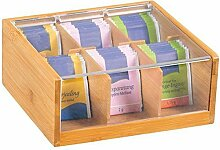 Kesper 50903 Teebox mit 6 Fächern, Bambus
