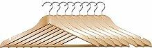 Kesper 67228 Formkleiderbügel 8er Pack, Holz, Braun, 45 x 15 x 1 cm