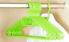 KESPER Kunststoff Kleiderbügel 10er Pack grün