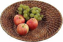 Kesper Obst Korb, Rattan & Geflecht, braun, 25x 25x 8cm
