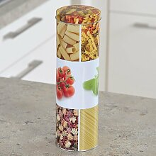 Kesper Spaghettidose, hohe Nudeldose, hohe Metalldose , aus Metall, Höhe: 270 mm, Durchmesser: 85 mm, sortier