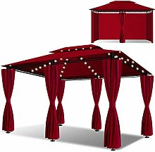 KESSER® - Pavillon 3x4m LED inkl. Seitenwände