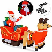 Kesser® Aufblasbarer Weihnachtsmann mit Schlitten