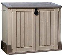 Keter 17197662 Mülltonnenbox Store it Out Midi, beige/braun, 845 L