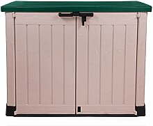 Keter Store It Out Max beige / grün Gartenbox Mülltonnenbox Gerätebox Schuppen