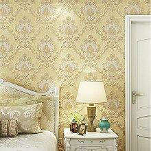ketian europäischen Luxus Styel PVC 3D Damast geprägt Tapete Rolle für Wohnzimmer Schlafzimmer beige Farbe 0,53m (1,73'W) X 10M (32,8' L) = 5.3m2() 57