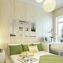 ketian Hochwertigen Moderne minimalistische Vlies Einfache Kurve Stil Wohnzimmer Schlafzimmer Home Dekoration Tapete Rolle 0,53m (1,73'W) X 10M (32,8' L) = 5.3m2() 57, beige, 0.53m (1.73' W) x 10m(32.8'L)=5.3m2 (57 sq.ft)
