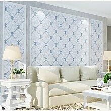 ketian Moderner Diamant Gitter Muster Einfache 3D Nachahmung Hirschleder Vliestapete für Wohnzimmer Schlafzimmer TV Hintergrund Wand Papier Rolle 0,53m (1,73'W) X 10M (32,8' L) = 5.3m2() 57, blau, 0.53m (1.73' W) x 10m(32.8'L)=5.3m2 (57 sq.ft)