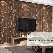 ketian Moderner Diamant Gitter Muster Einfache 3D Nachahmung Hirschleder Vliestapete für Wohnzimmer Schlafzimmer TV Hintergrund Wand Papier Rolle 0,53m (1,73'W) X 10M (32,8' L) = 5.3m2() 57, dunkelbraun, 0.53m (1.73' W) x 10m(32.8'L)=5.3m2 (57 sq.ft)