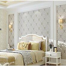 ketian Moderner Diamant Gitter Muster Einfache 3D Nachahmung Hirschleder Vliestapete für Wohnzimmer Schlafzimmer TV Hintergrund Wand Papier Rolle grau Farbe 0,53m (1,73'W) X 10M (32,8' L) = 5.3m2() 57
