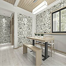 ketian Persönlichkeit Retro Stones Antik Stein marmoriert Rock Tapete 0,53m (1,73'W) X 10M (32,8' L) = 5.3m2() 57, PVC, hellgrau, 0.53m (1.73' W) x 10m(32.8'L)=5.3m2 (57 sq.ft)