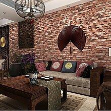 ketian Tapeten Modern dreidimensionale rot Brick
