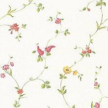 Kette Süß Küche Tapete Blumen Galerie grün rot gelb–fk26958