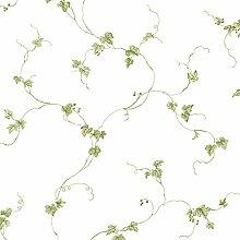 Kette Süß Küche Tapete Blumen grün weiß