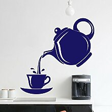 Kettle & Cup Wandvinylaufkleber-Kunst-Plakat Easy Peel & Stick Wand - Dekor