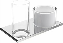 KEUCO Doppelhalter Edition 400 11553, Glas/