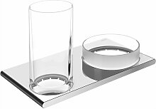 KEUCO Doppelhalter Edition 400 11554, Glas/