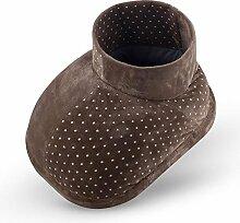 Kevin Elektrischer Fußwärmer Ideal für eiskalte Füße / Toasty Toes - Weiches Fleece Innen Herausnehmbares Waschbares Futter - 3 Temperaturen , brown