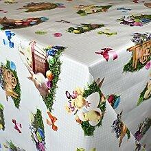 KEVKUS Wachstuch Tischdecke 150D Ostern Osterhase
