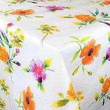 KEVKUS Wachstuch Tischdecke BA50 Bunte Blumen