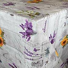 KEVKUS Wachstuch Tischdecke BB80 Lavendel Oliven