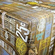 KEVKUS Wachstuch Tischdecke M19365 Holzpaneele