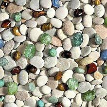 KEVKUS Wachstuch Tischdecke Meterware Steine